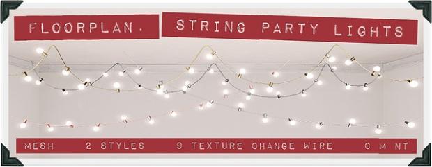 Floorplan - string party lights - No21