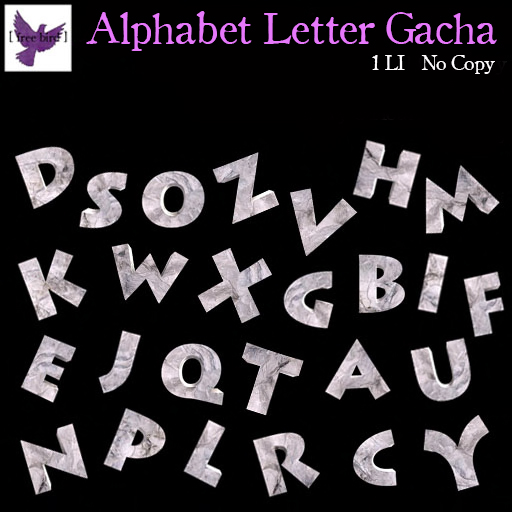 [ FREE BIRD ] ALPHABET GACHA