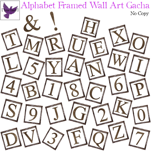 [ FREE BIRD ] FRAMED ALPHABET GACHA
