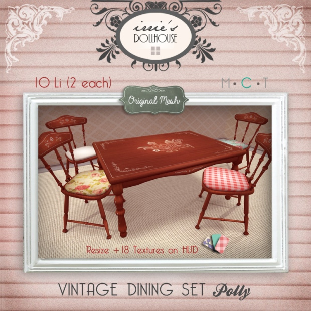 Irrie's Dollhouse Dining Table