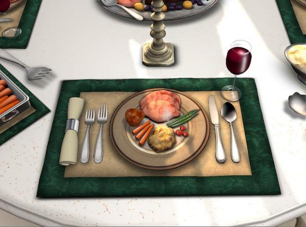 La Galleria - dining set dinner example