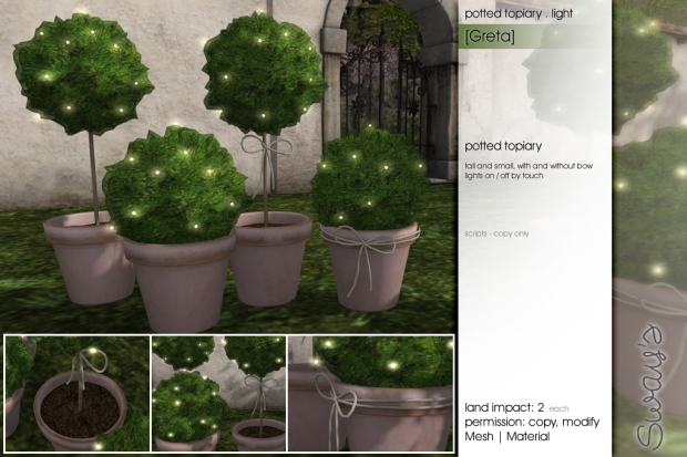 Sways - [Greta]potted-topiary-light - FLF