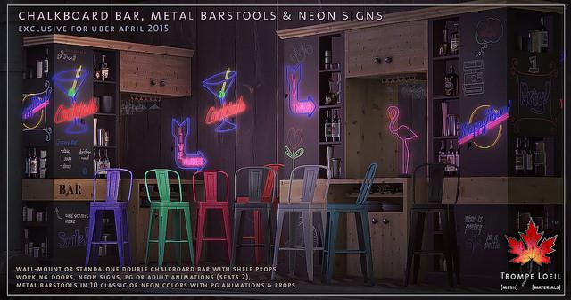 trompe loeil chalkboard bar love to decorate. Black Bedroom Furniture Sets. Home Design Ideas