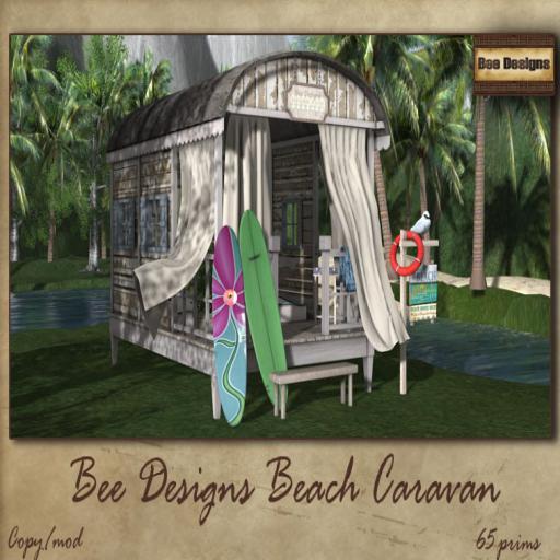 bee designs Beach Caravan