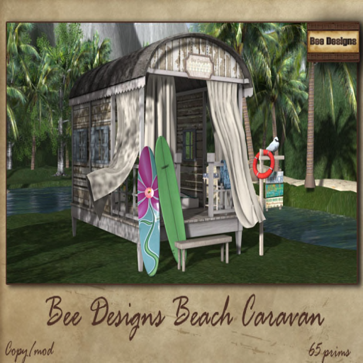 bee designs Beach Caravan