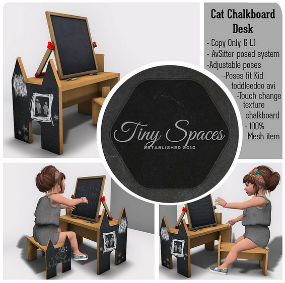 CAT CHALKBOARD SET BY TINY SPACES