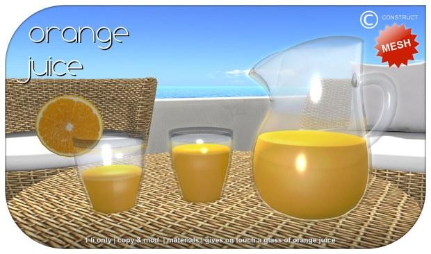 Construct - Menhir set orange juice - HomeShow