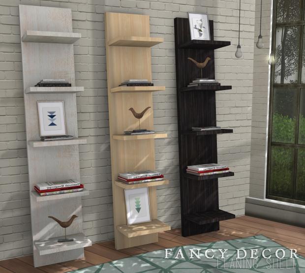 fancy decor - leaning shelf