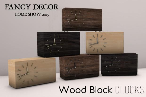Fancy Decor - wood block clocks - HomeShow