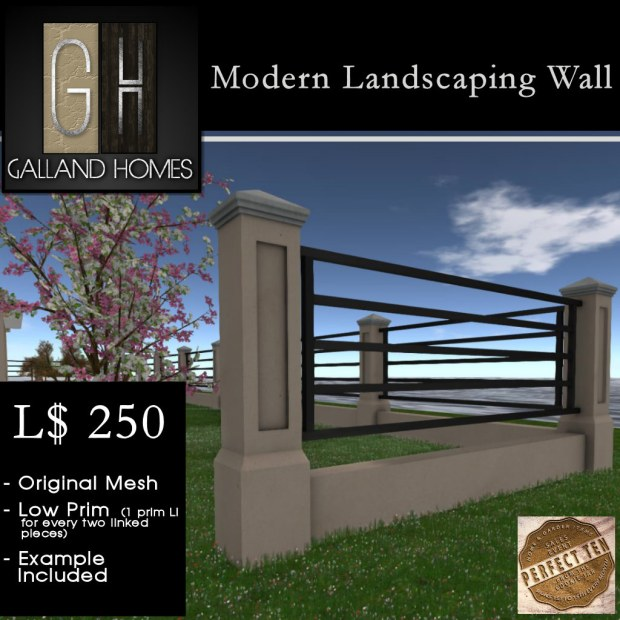 Galland Homes - Landscaping Wall - Perfect Ten