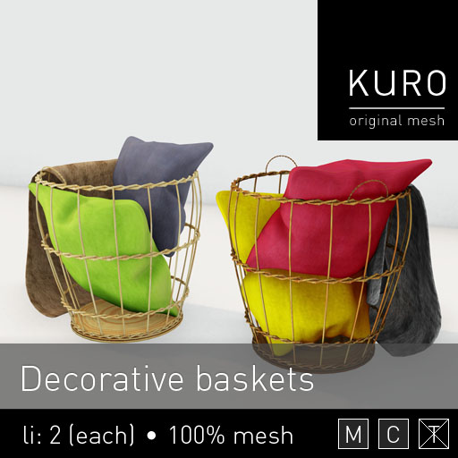Kuro - Decorative Baskets - Lazy Sunday