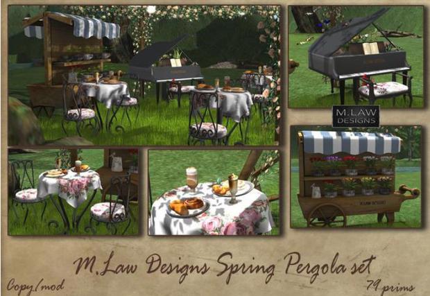 M.LAW DESIGNS - SPRING PERGOLA SET