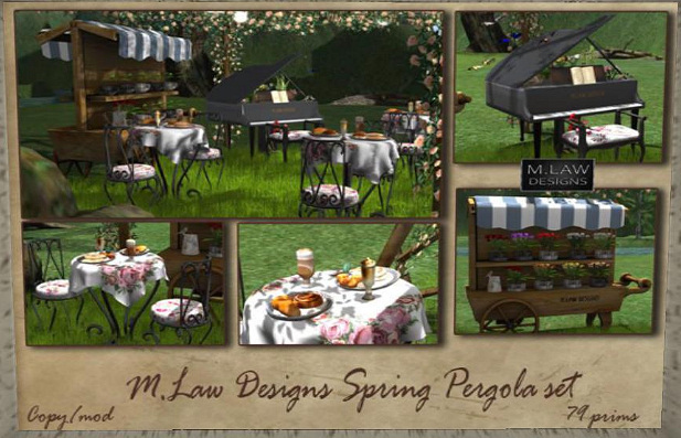 M Law - Pergola set - Tres Chic