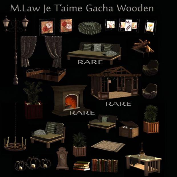 ._M.LAW_. Je t'aime Pergola Set Wooden