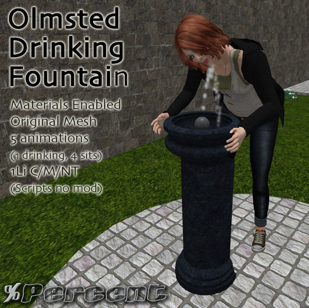 percent - Olmsted drinking fountain - HomeShow