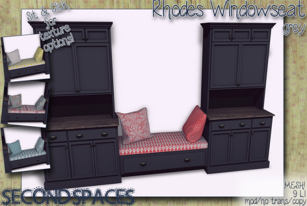 RHODES WINDOW SET IN BLACK