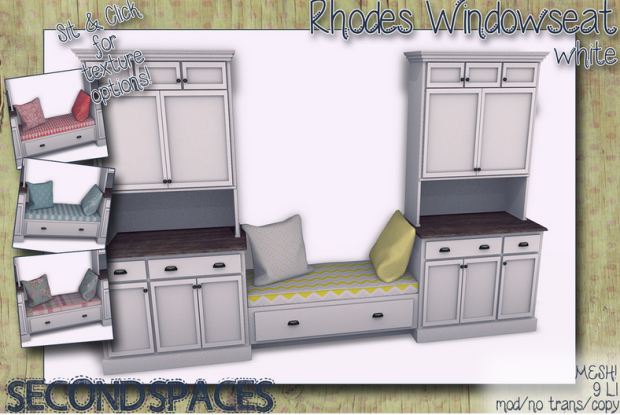 rHODES WINDOW SET IN WHITE