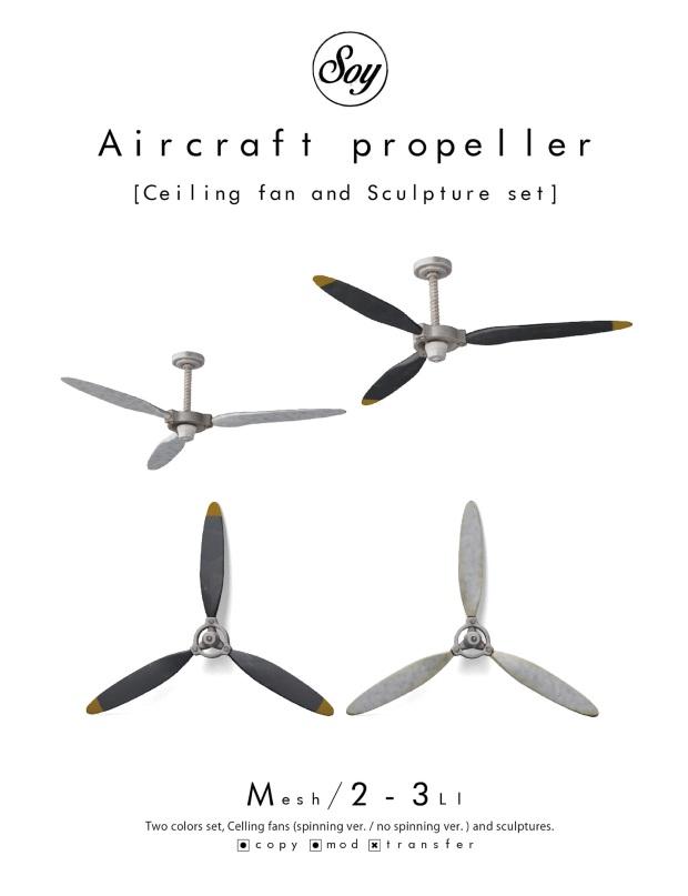 soy - aircraft propeller set - 6Republic