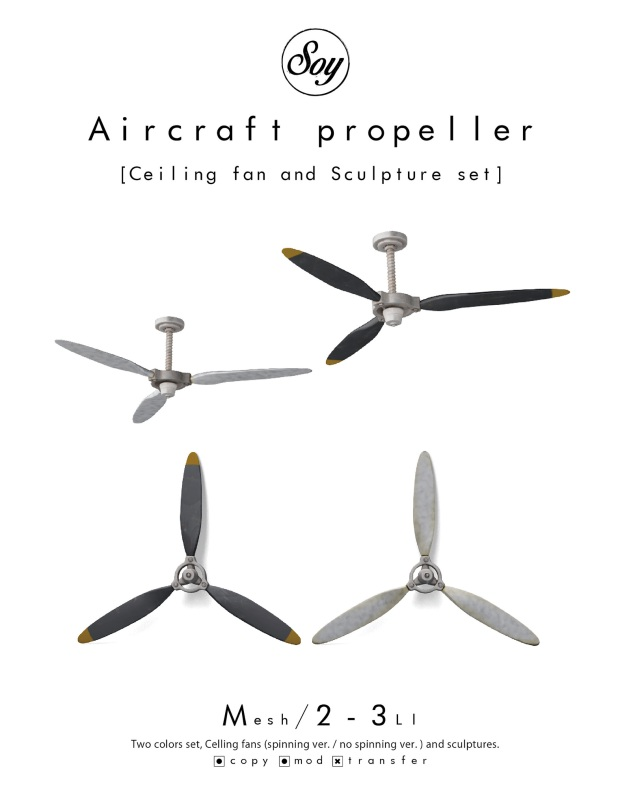 soy - aircraft propeller set - 6Republic