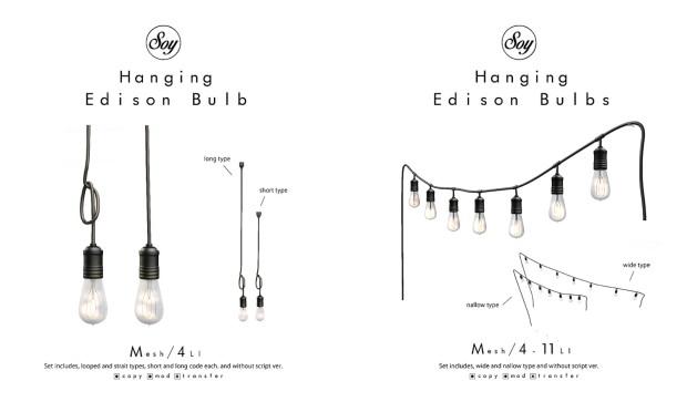Soy. - Edison Hanging Bulbs - HomeShow