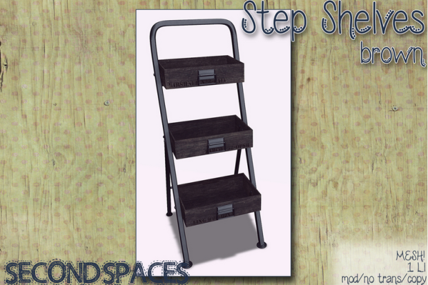 STEP SHELVES BLACK
