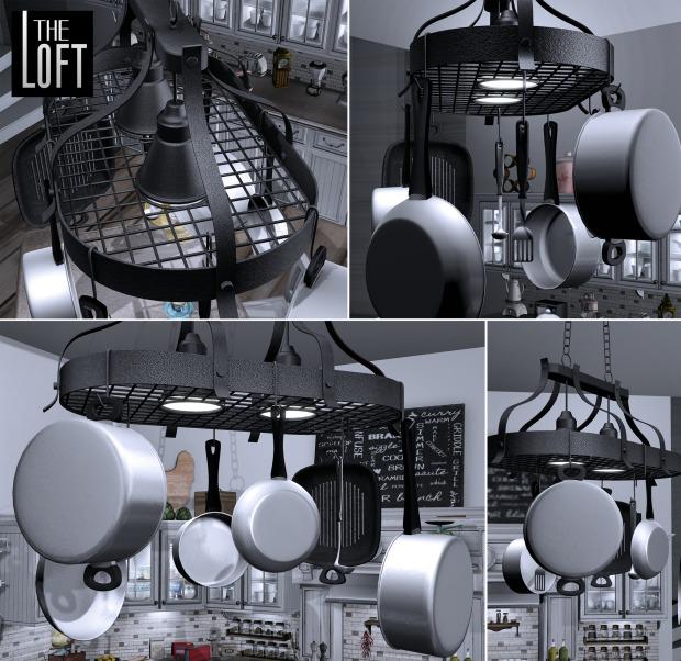 The Loft - pot rack - Fameshed