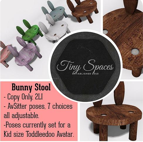 tiny spaces bunny stool
