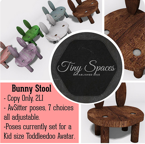tiny spaces bunny stool