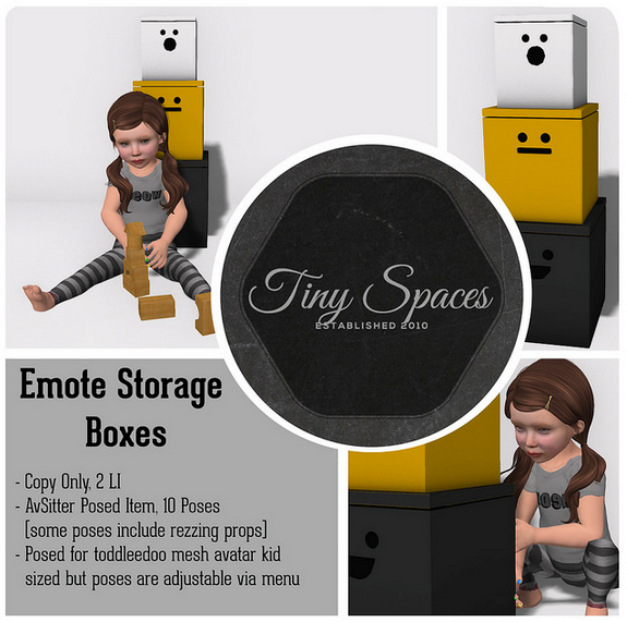 TINY SPACES - EMOTE STORAGE BOXES