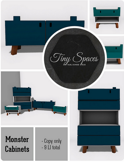 TINY SPACES - MONSTER CABINETS