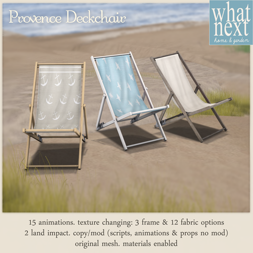 {what next} Provence Deckchair