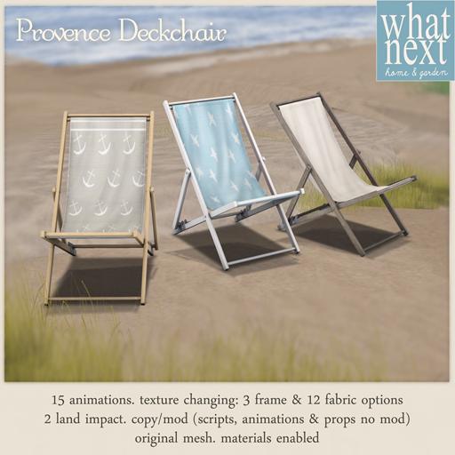 {what next} Provence Deckchair