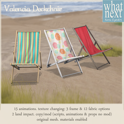 {what next} Valencia Deckchair