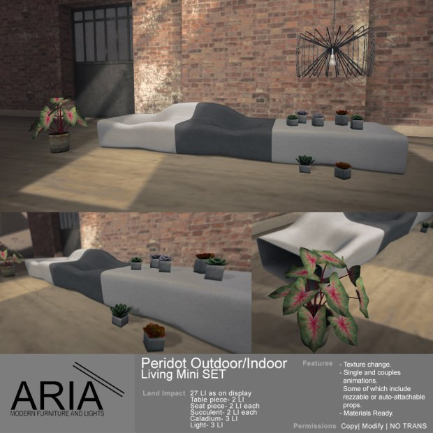 ARIA - Peridot outdoorindoor living mini set