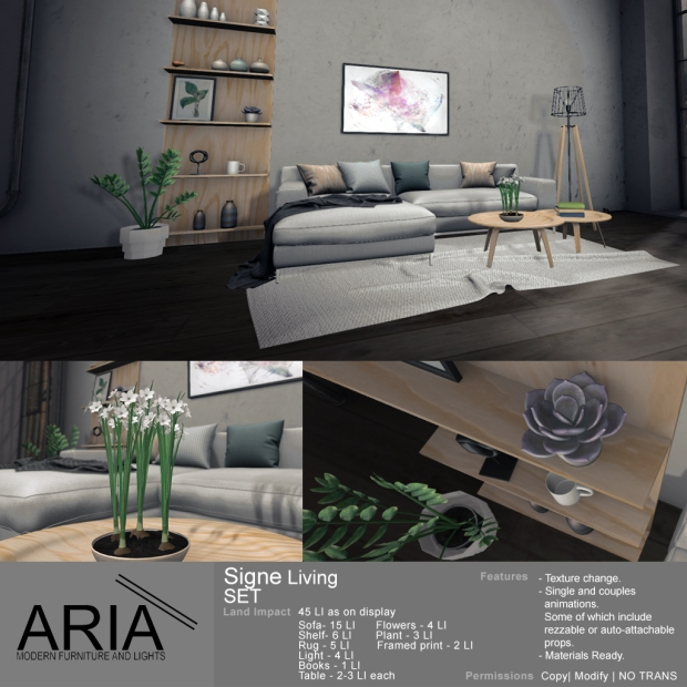 ARIA - Signe Living Set - FaMESHed