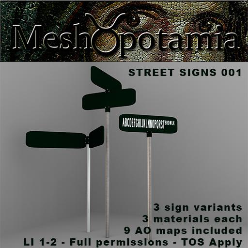 Meshopotamia Street Signs AD