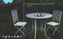 OYASUMI – METAL PATTERN TABLE SET
