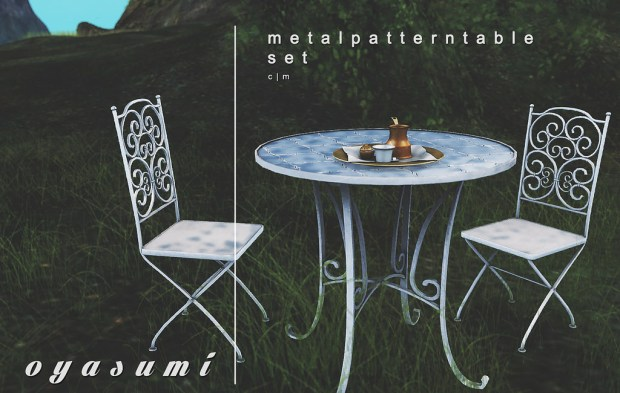 Oyasumi - metal pattern table set - Event