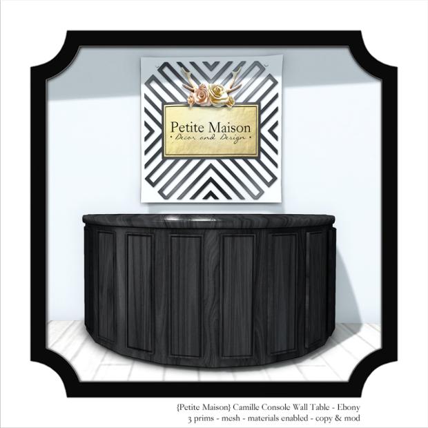 Petite Maison - Camille Console Table Noir - HT 50% OFF
