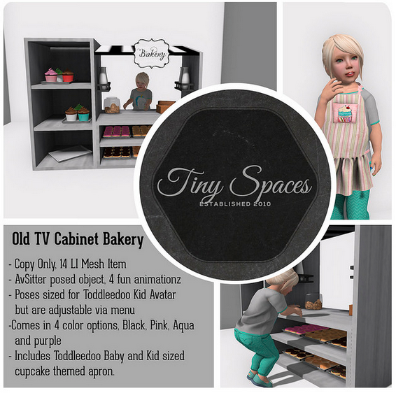 TINY SPACES OLD TV CABINET BAKERY