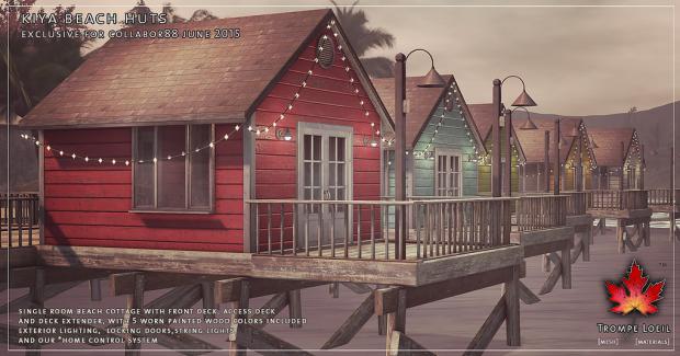 trompe beach hut